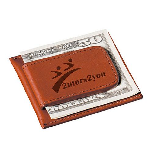 Cutter & Buck Chestnut Money Clip Card Case '2utors2you'