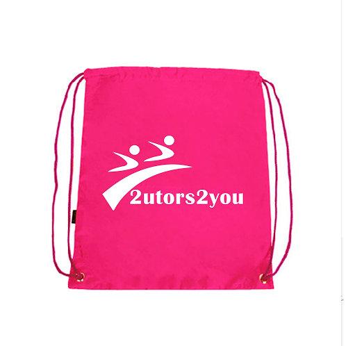 Pink Drawstring Backpack '2utors2you'
