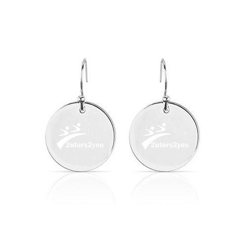 Olivia Sorelle Silver Round Pendant Drop Earrings '2utors2you'