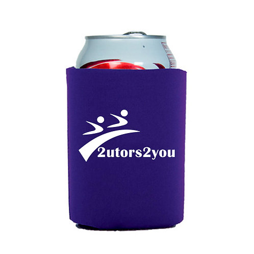 Neoprene Purple Can Holder '2utors2you'