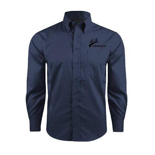 Red House Deep Blue Herringbone Long Sleeve Shirt '2utors2you'