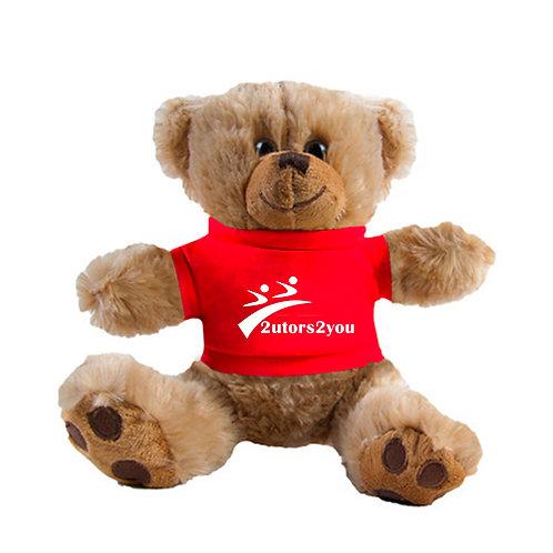 Plush Big Paw 8 1/2 inch Brown Bear w/Red Shirt '2utors2you'
