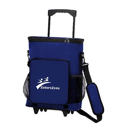 30 Can Blue Rolling Cooler Bag '2utors2you'