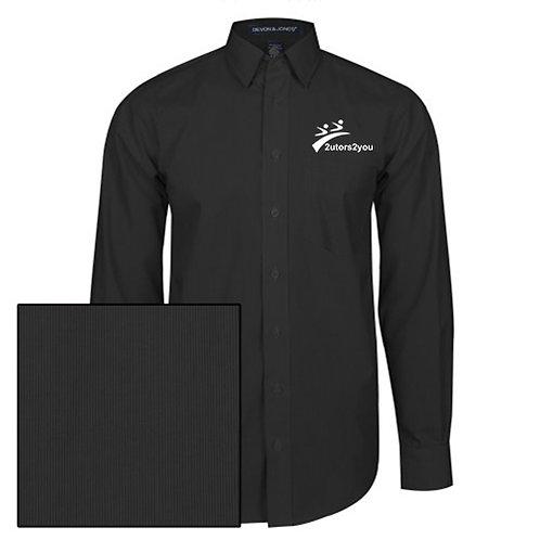 Black Striped Long Sleeve Shirt '2utors2you'
