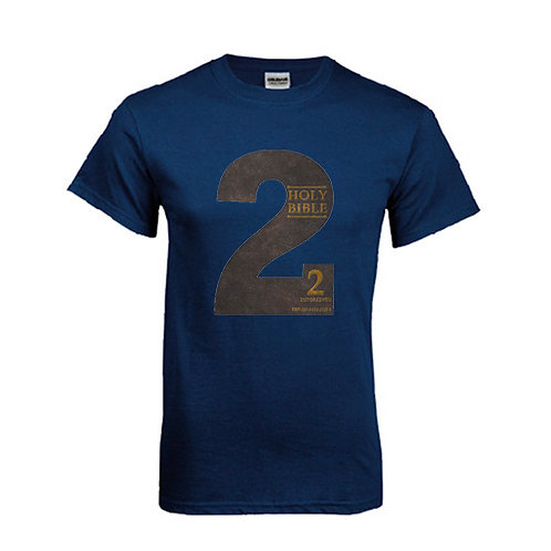 Navy T Shirt '2utors2you Bible'
