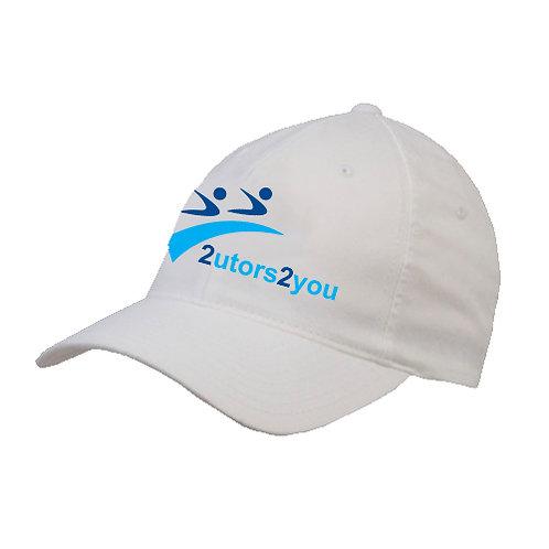 White OttoFlex Unstructured Low Profile Hat '2utors2you'