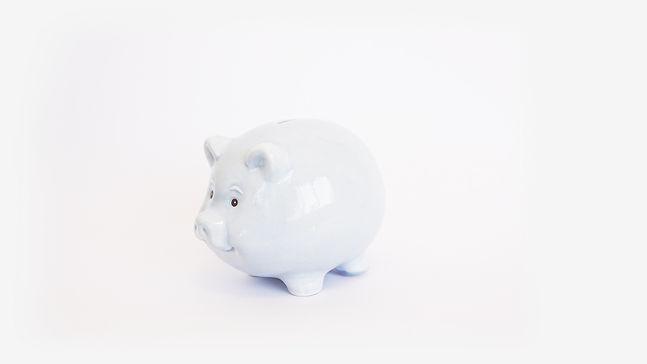 חזיר חסכון תכלת בהיר - מזונות ילדים