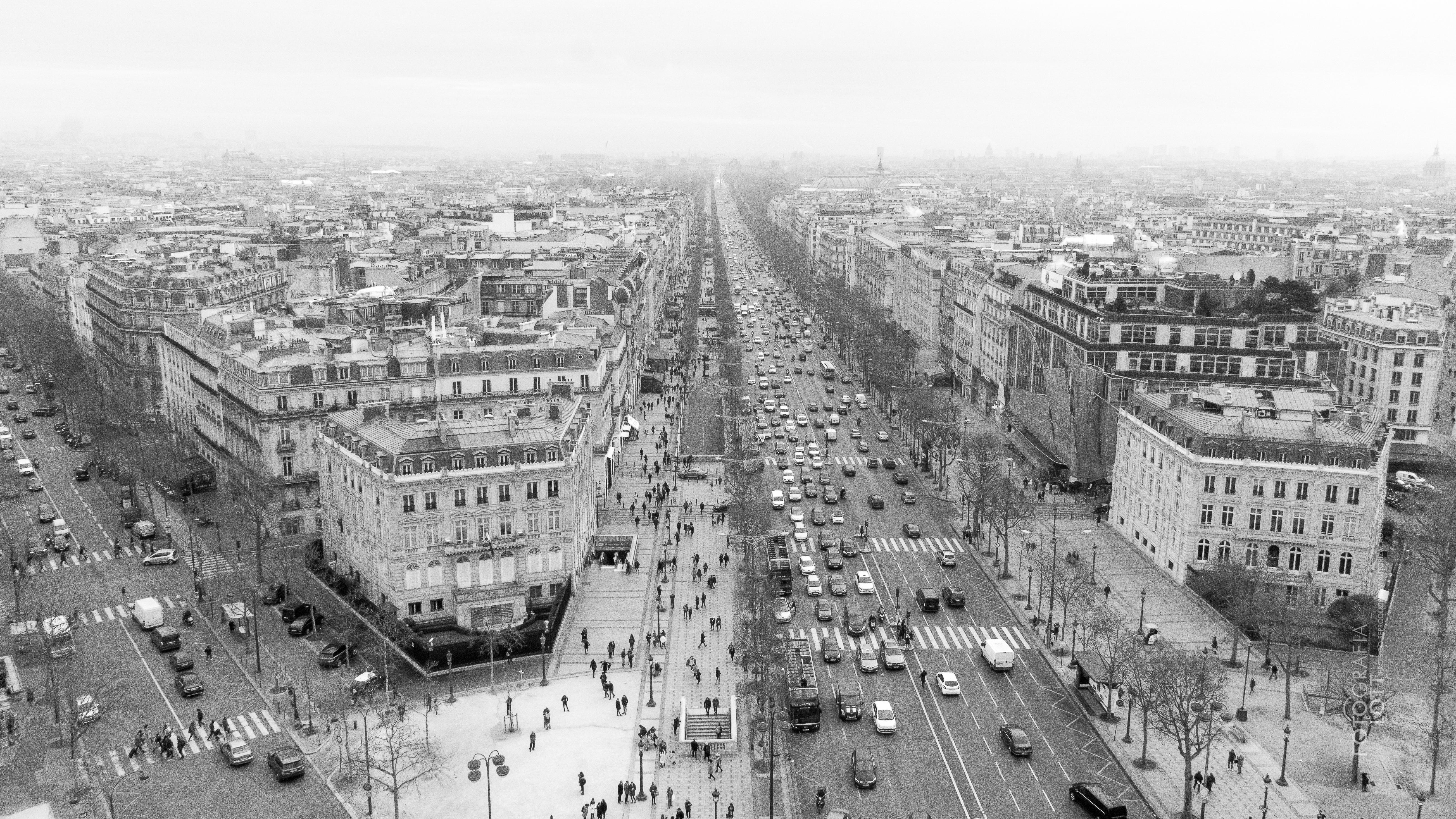 Panorâmica Champs-Élysées