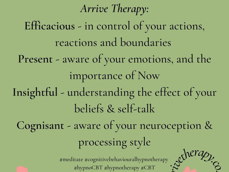 What issues are Arrive Therapy's cognitive behavioural hypnotherapy ideal for?