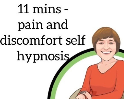 Here's a short self hypnosis to help us manage pain and discomfort.