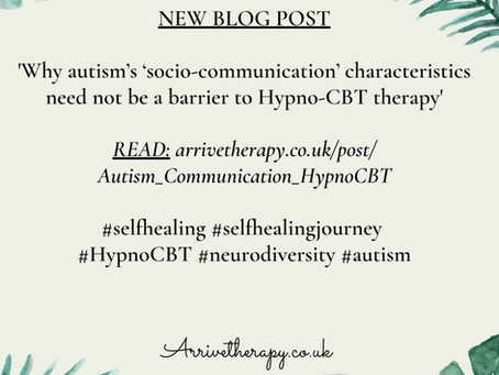 How autistic people & their talking therapist / hypnotherapist can create a therapeutic relationship