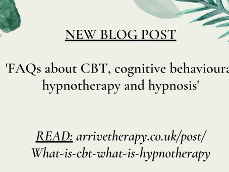 FAQs about CBT, cognitive behavioural hypnotherapy and hypnosis