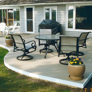 Piano Shapped Deck-completed