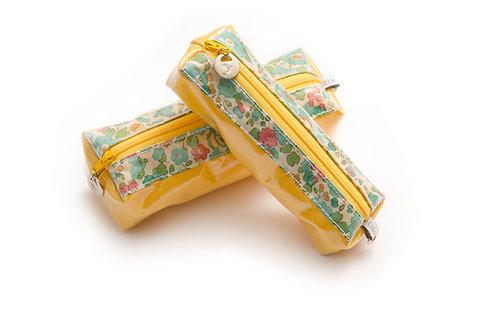 """Trousse """"Colibri"""" grand format   jaune"""