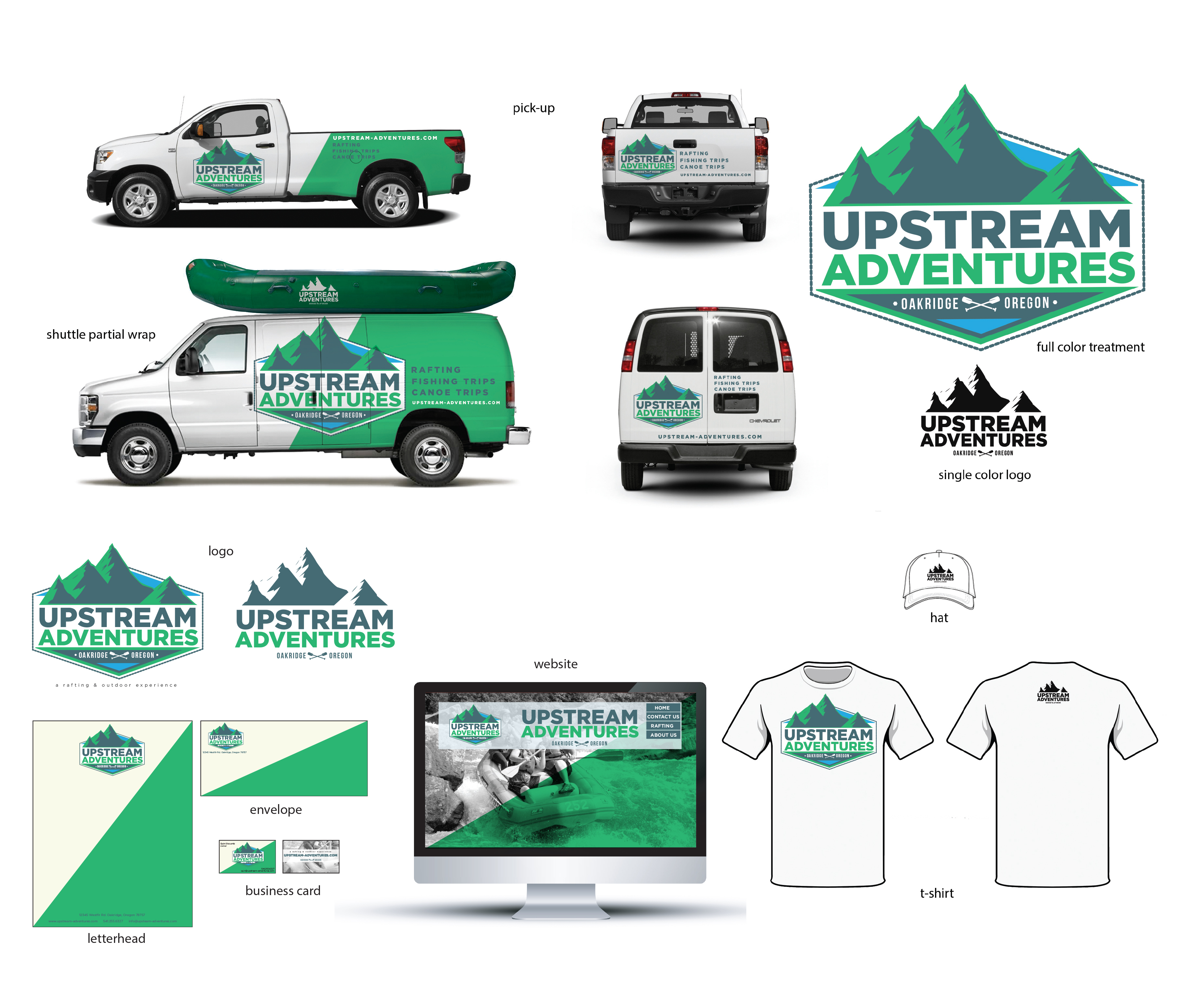 upstream adventures branding