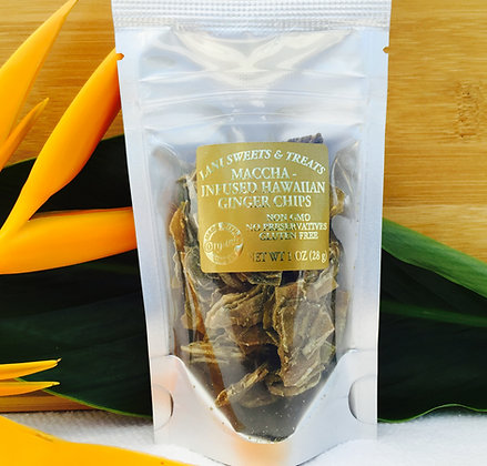 Maccha-Infused Hawaiian Ginger Chips