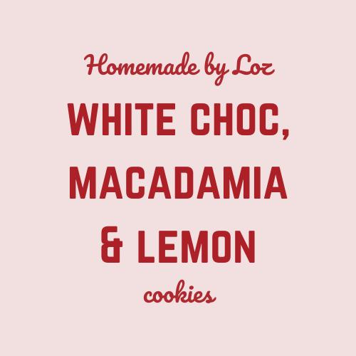 White Choc, Macadamia & Lemon Cookies (8)