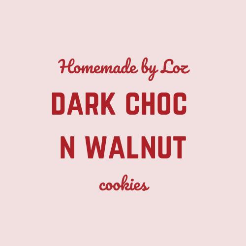 Dark Choc & Walnut Cookies (8)