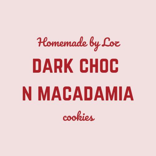 Dark Choc & Macadamia Cookies (8)