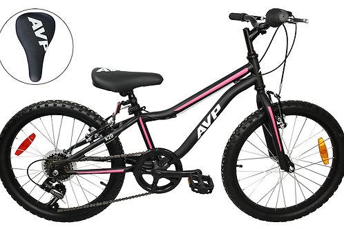 AVP K20 7 vitesses Vélo pour enfants Noir/Rose