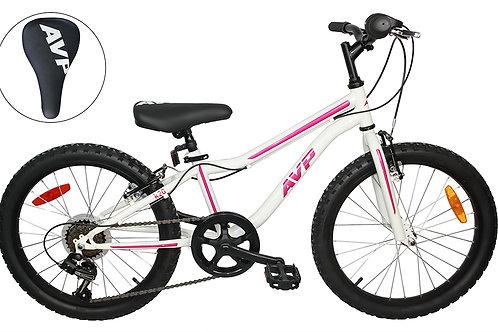 AVP K20 7 vitesses Vélo pour enfants Blanc/Rose