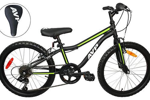 AVP K20 7 vitesses Vélo pour enfants Noir/Fluo