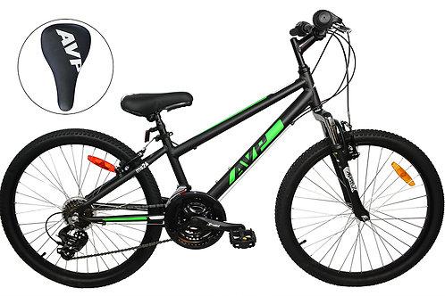 AVP MS24 Vélo junior Noir/Vert