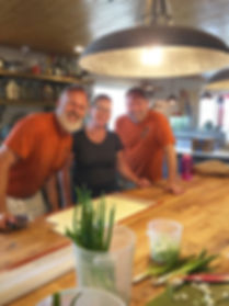 brown bear baking kitchen and co-owners David and Lee.  A wonderful work environment and baking kitchen.