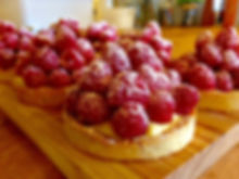 fresh raspberry tarts for breakfast or brunch