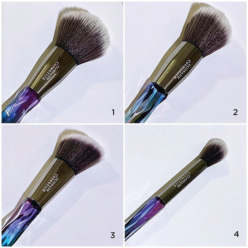 Stained Glass Face Brush Set (4 pc.)