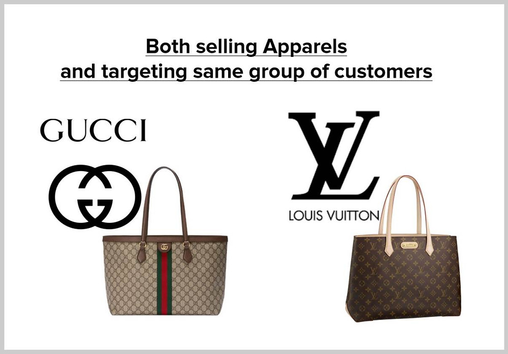 one can compare Gucci to LV.