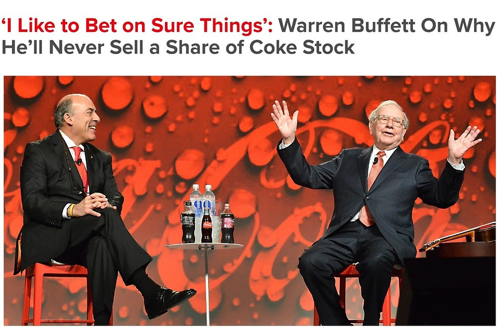Warren Buffett on why he will never sell a share of Coke Stock