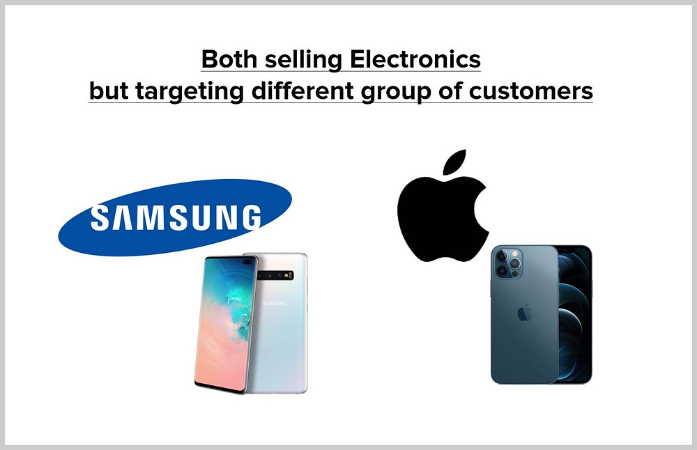 We should not compare other electronic device manufacturers like Samsung with Apple as well.
