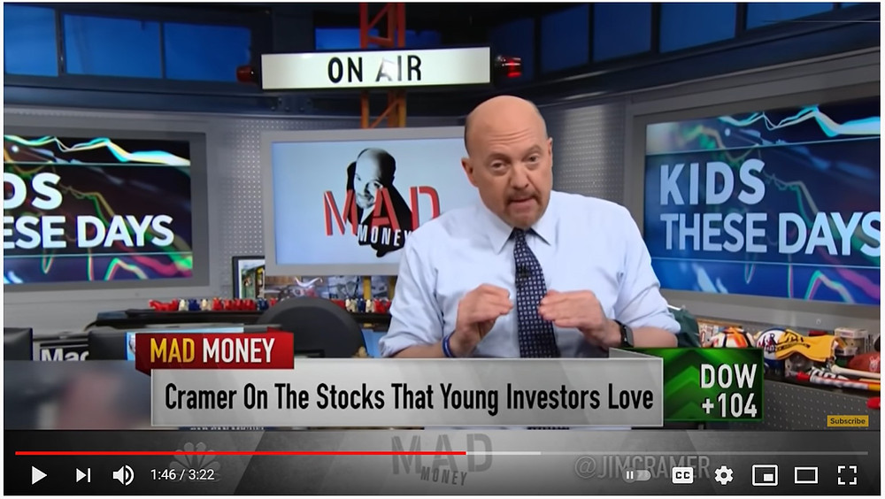 Video by Jim Cramer on the type of stocks that Young Investors love. Tesla MadMoney Mad Money CNBC