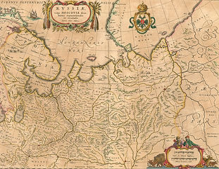 Карта Массы с городом Мангазея и мангазейским волоком