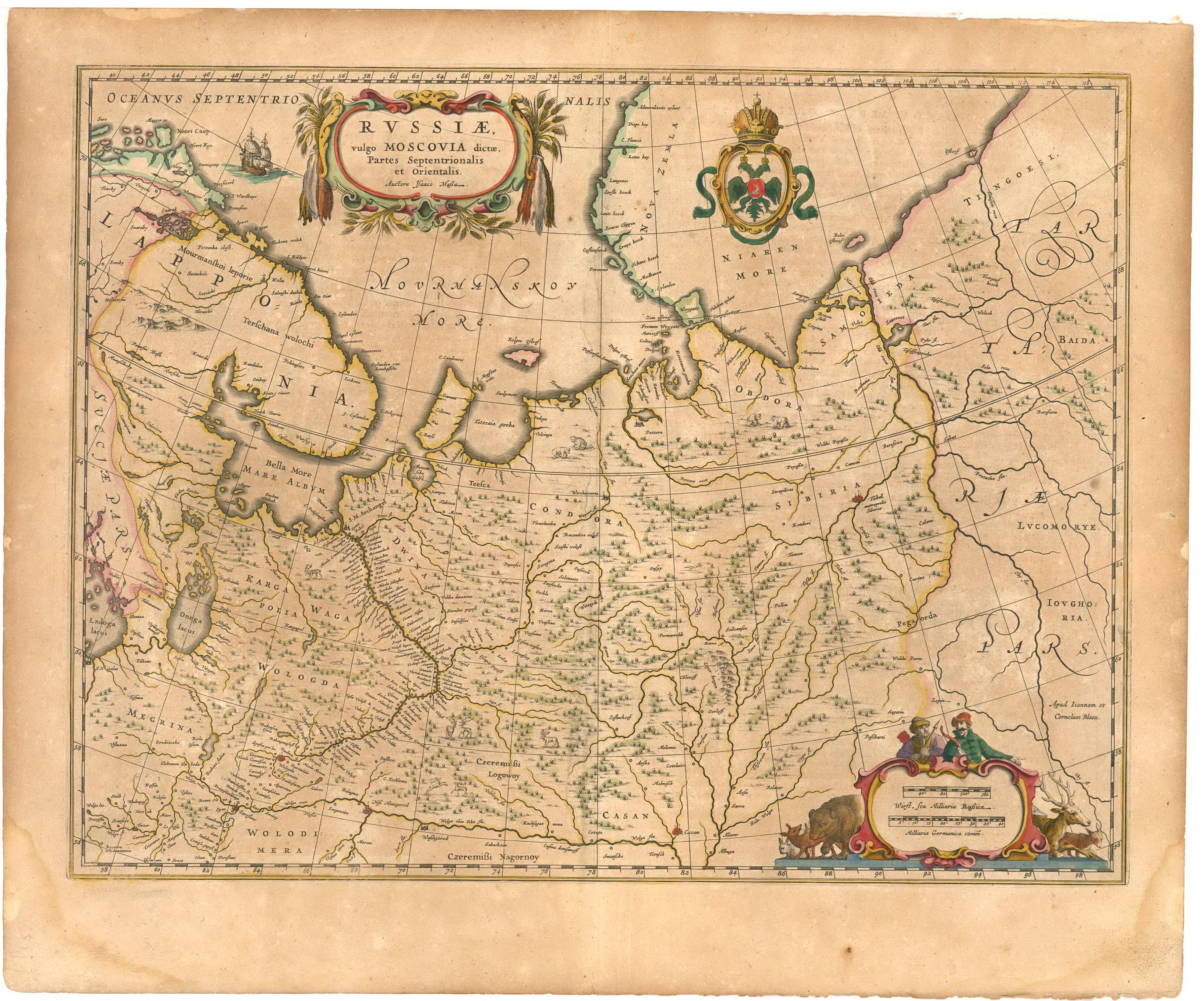 Карта Массы с изображением мангазейс