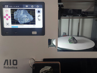 Digitizing Basalt stone samples from NASA's Mars Science Laboratory