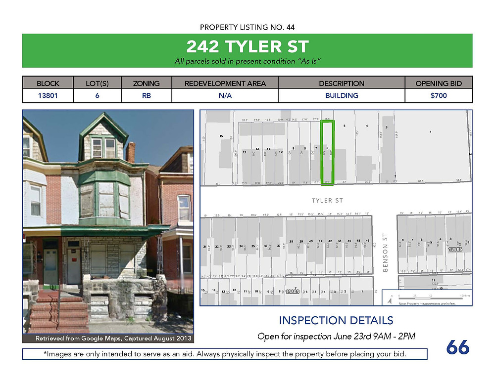 Property Listing page example