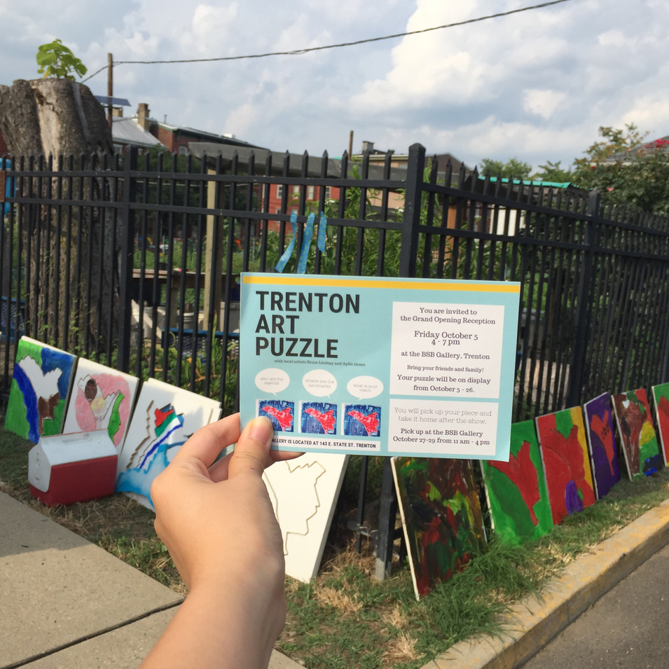 Trenton Art Puzzles during National Night Out