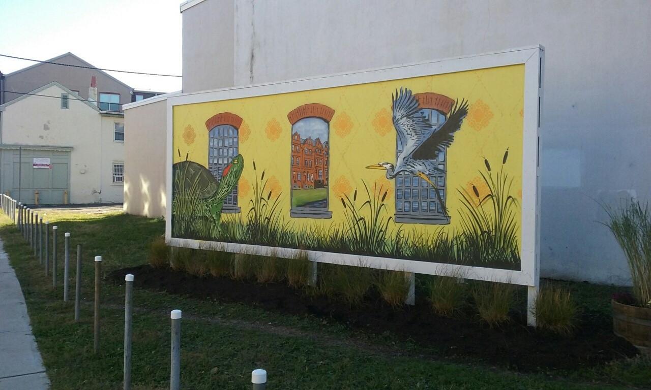 Rotating Mural Wall