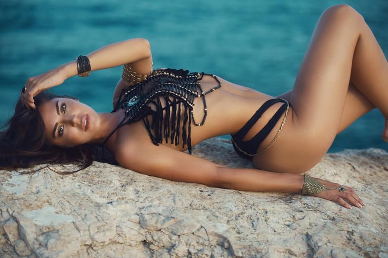 Melania en Ibiza