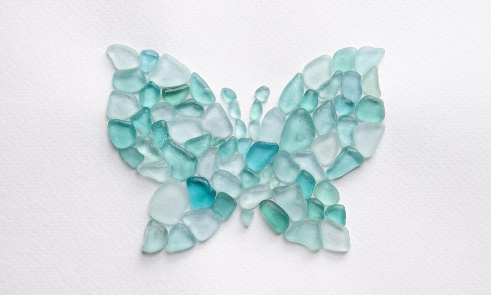 Sea glass Butterfly print