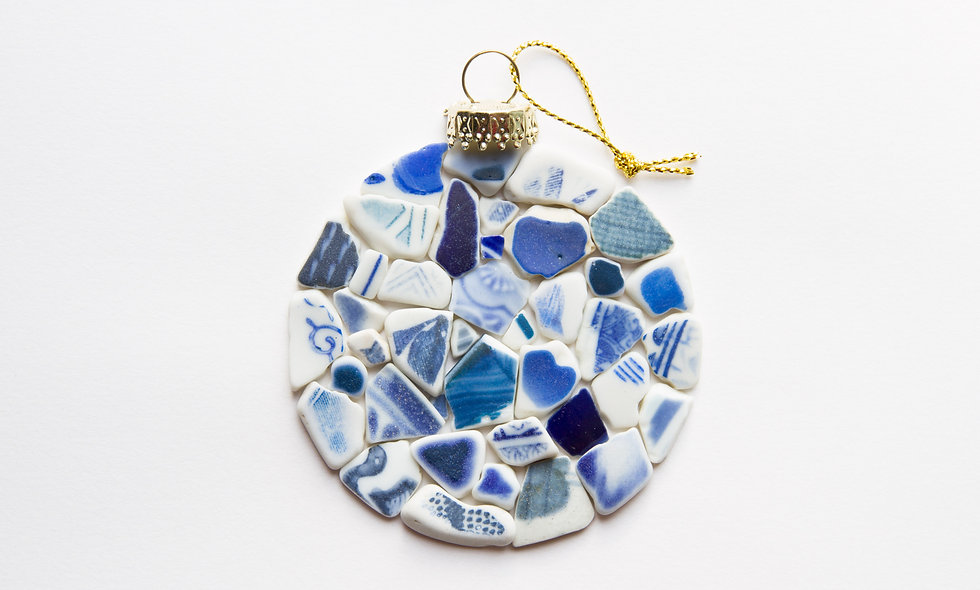Sea Pottery Bauble Print