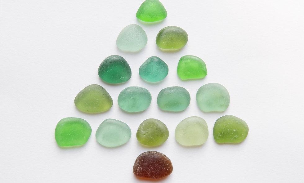 Sea Glass Christmas Tree Print
