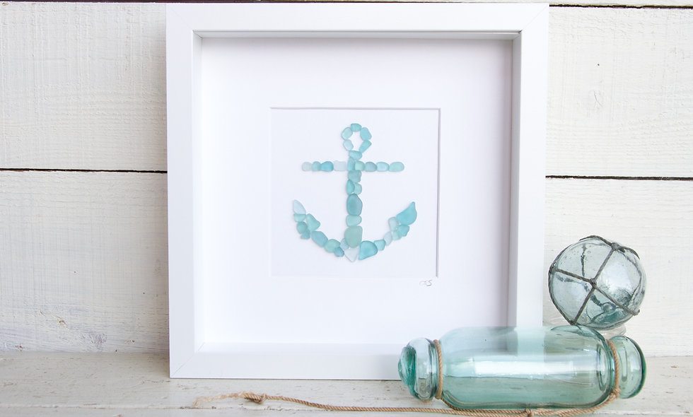 Japanese Sea Glass - Anchor