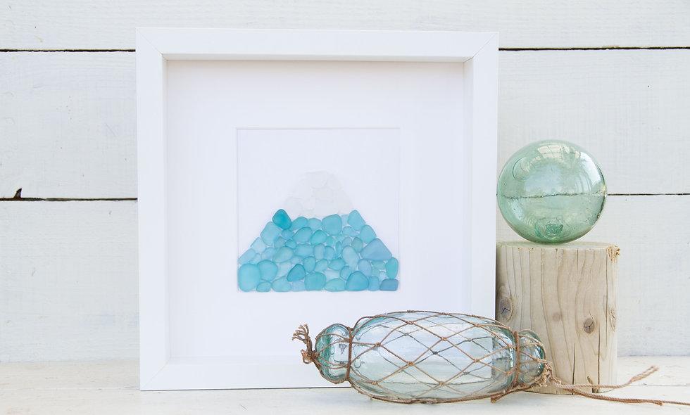 Japanese Sea Glass - Aquamarine Mt Fuji