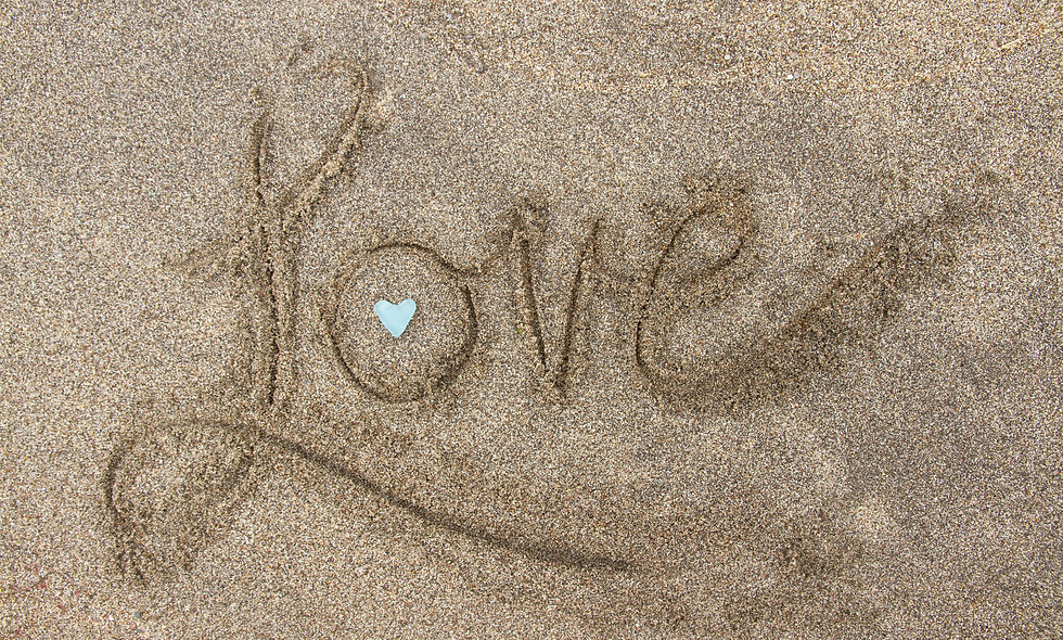 Love Written in the Sand Print