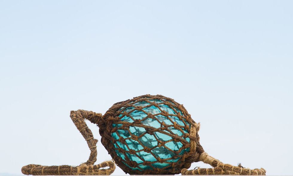 Turquoise Glass Fishing Float Print