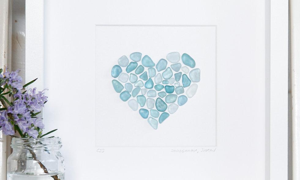 Japanese Sea Glass - Heart