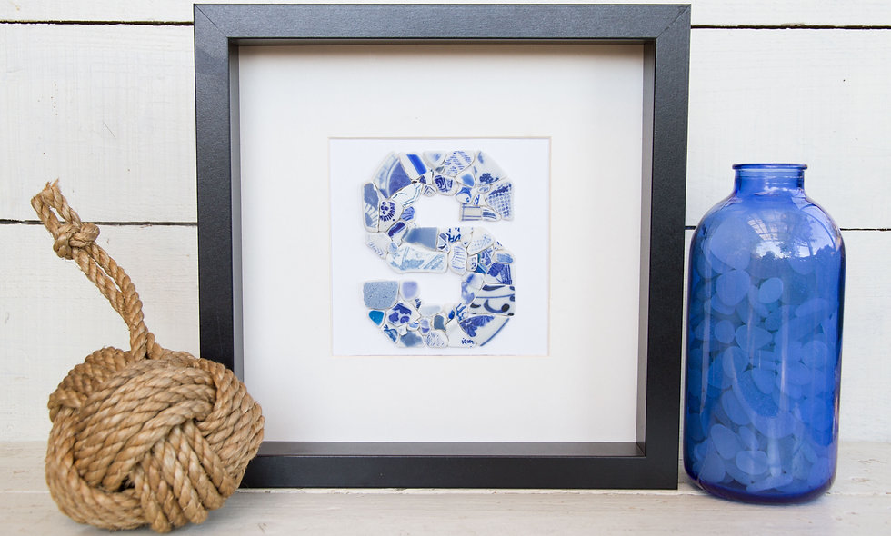 Japanese Sea Pottery - Mosaic Letter